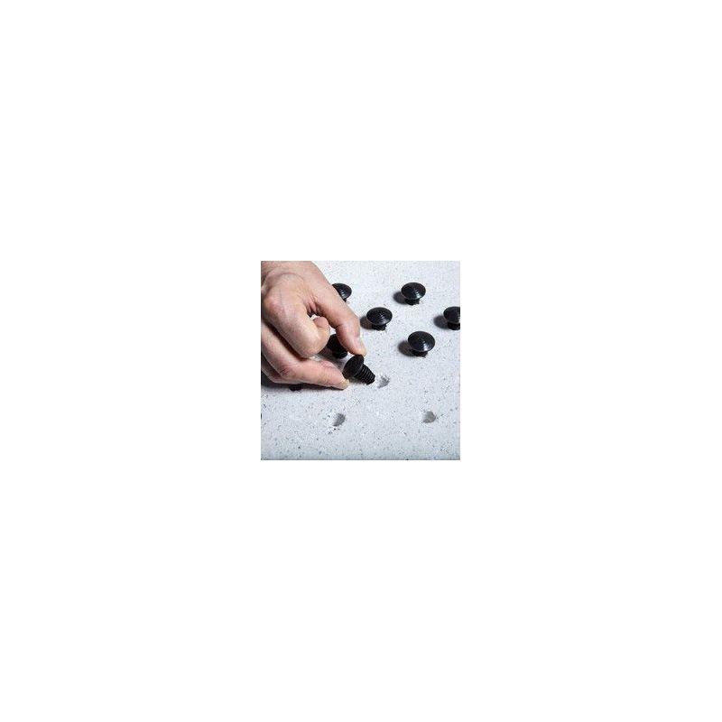 Dalle podotactile avec Lot de 250 clous podotactiles en polymère à frapper. pour la sécurité des locaux et l'accessibilité de...