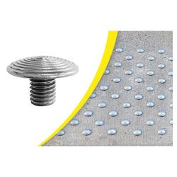 Dalle podotactile avec Lot de 100 clous podoctatiles à sceller pour la sécurité des locaux et l'accessibilité des PMR