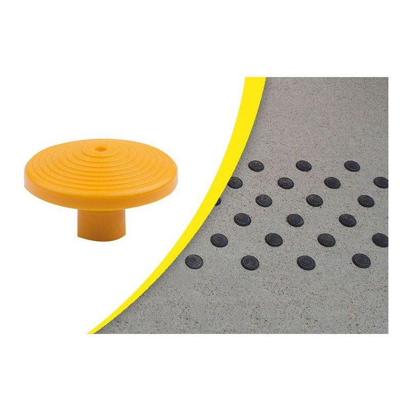 Dalle podotactile avec Lot de 200 clous podotactiles en polyamide à sceller pour la sécurité des locaux et l'accessibilité de...