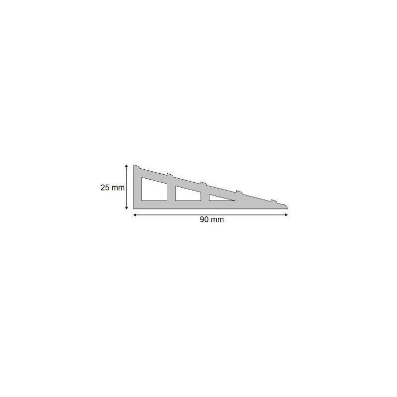 Dalle podotactile avec Rampe d'accès PMR auto-adhésive pour intérieure pour la sécurité des locaux et l'accessibilité des PMR