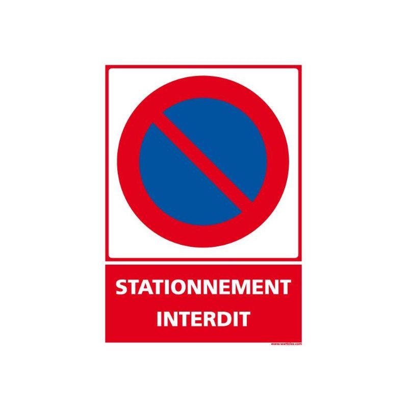 Panneau signalétique en PVC stationnement interdit