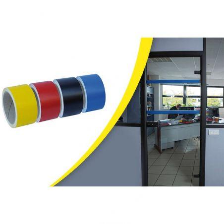 Bande de repérage colorée pour surface vitrée