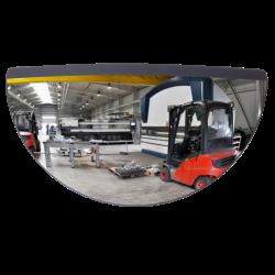 Miroir rétroviseur pour chariot élévateur  | Miroirs de sécurité