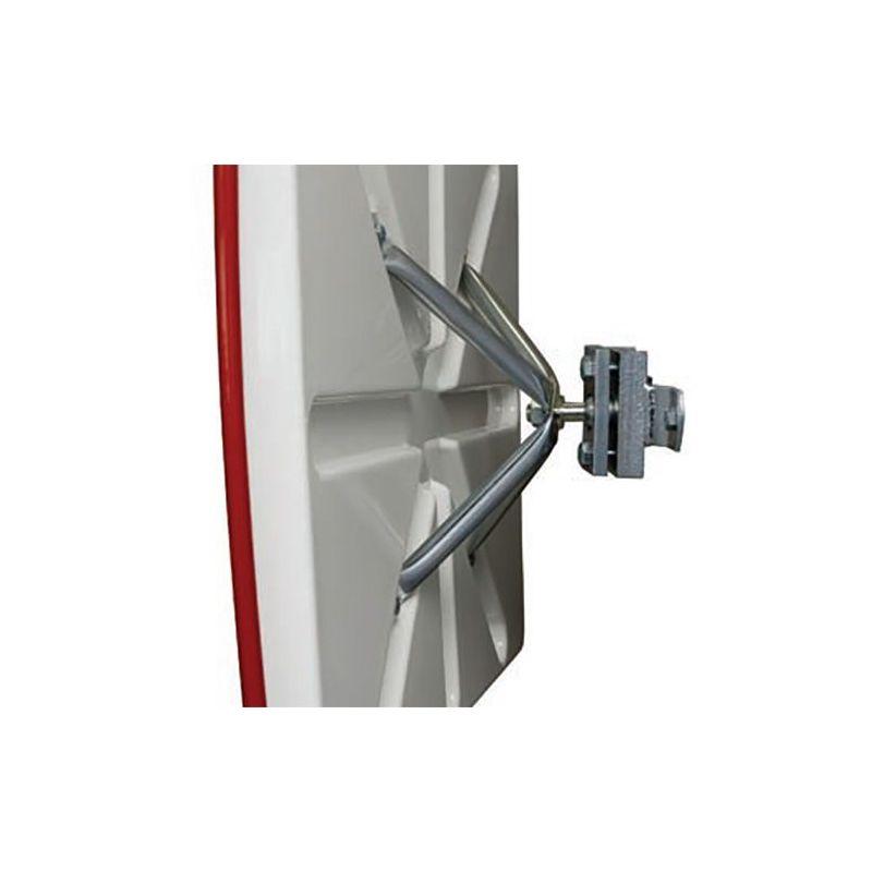 Miroir de sécurité extérieur avec cadre rouge  | Miroirs de sécurité