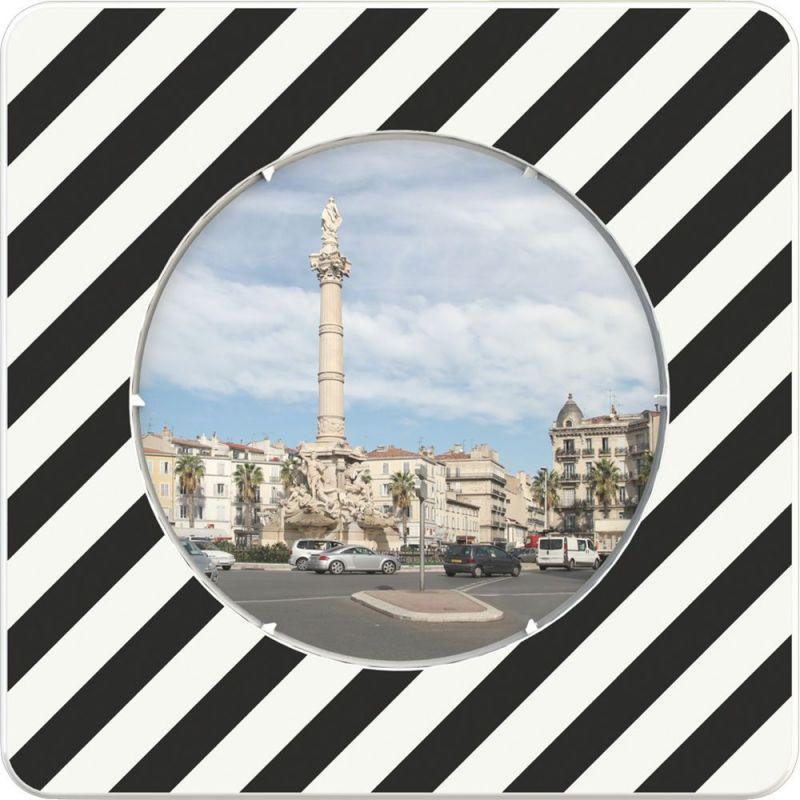 Miroir routier Euvex avec cadre noir et blanc  | Miroirs de sécurité