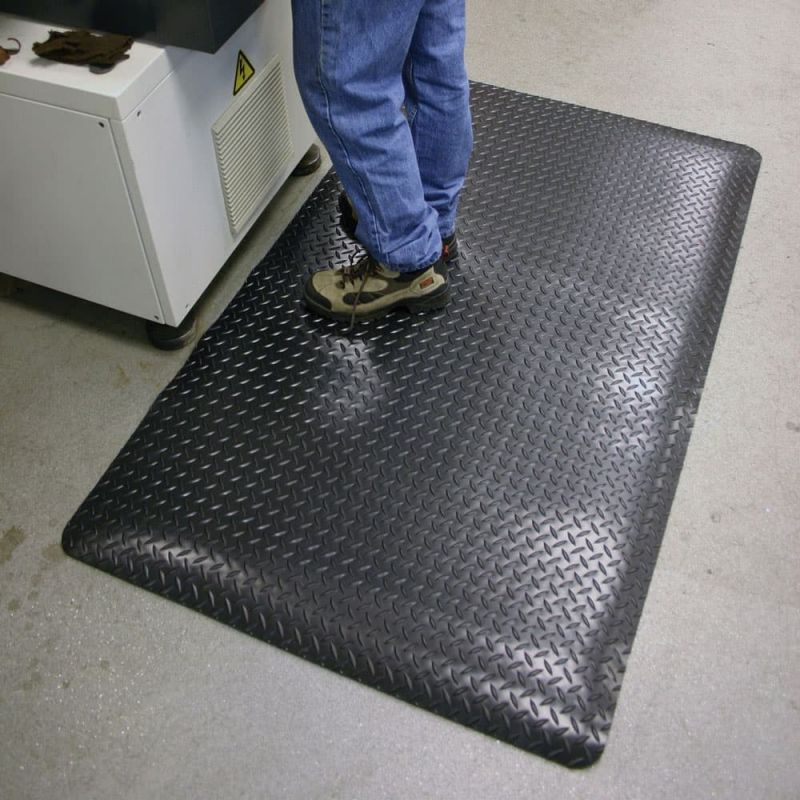 Tapis anti fatigue premium tôle diamant, DECKPLATE