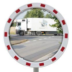 Miroir routier Euvex avec cadre rouge et blanc  | Miroirs de sécurité