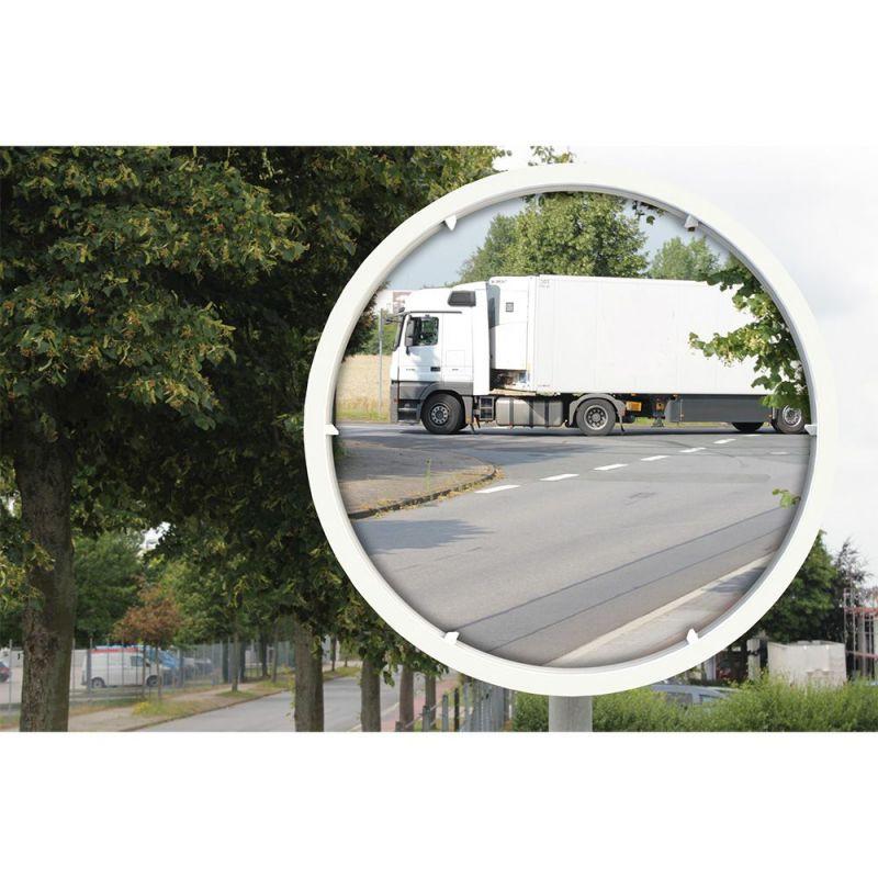 Miroir routier Euvex cadre blanc  | Miroirs de sécurité