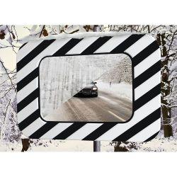 Miroir routier en inox antigivre et antibuée  | Miroirs de sécurité