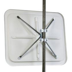 Miroir de sécurité en inox - cadre rouge et blanc  | Miroirs de sécurité