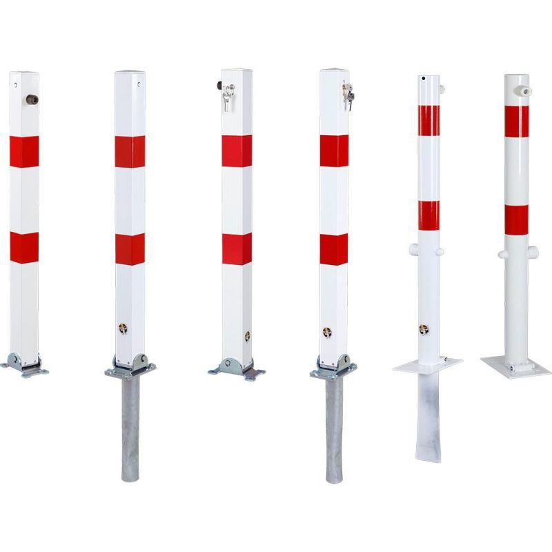 Poteau de parking rabattable   Equipement de parking et de voirie