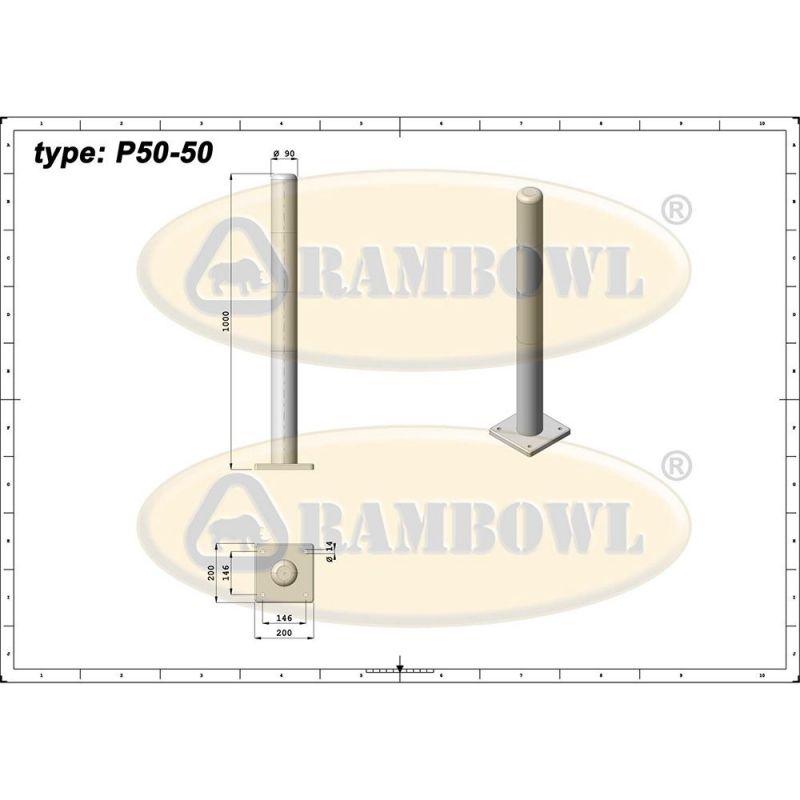 Poteau de protection anti-chocs en polyuréthane | Protection des entrepôts