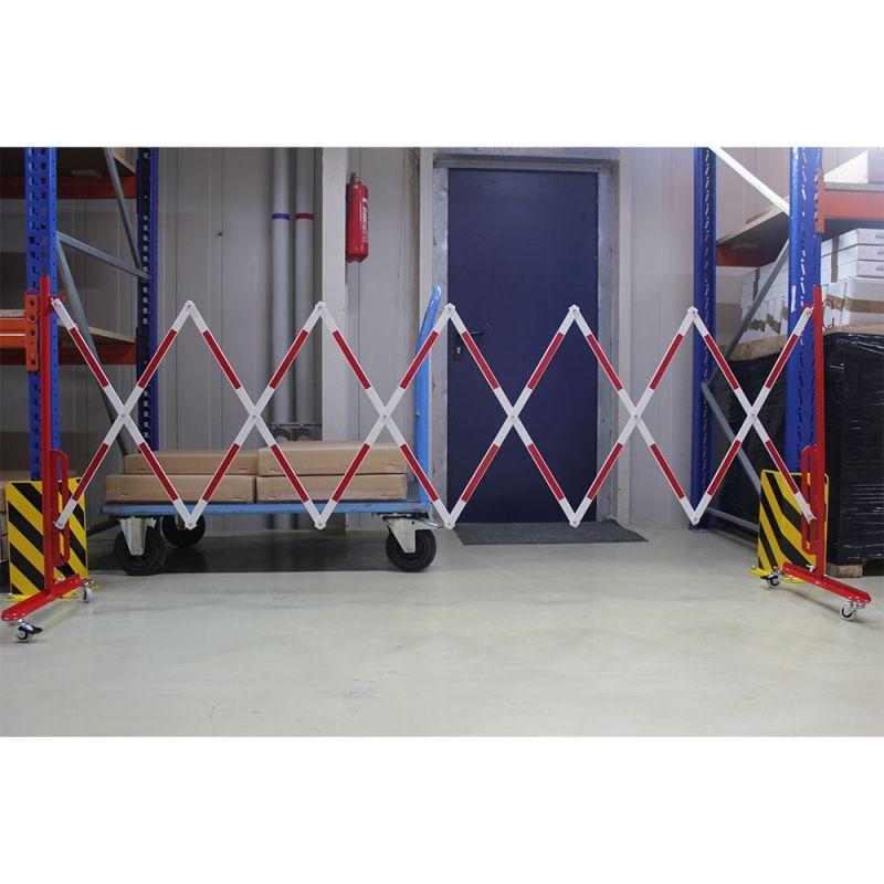 Barrière de sécurité extensible sur roues   Barrière de sécurité   Barrière et poteau de Sécurité