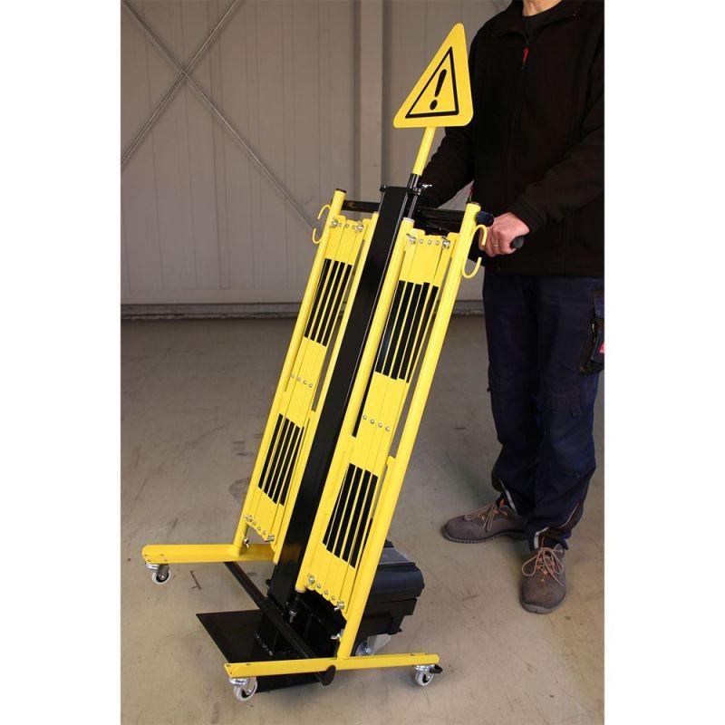 Barrière de sécurité extensible sur chariot | Barrière de sécurité | Barrière et poteau de Sécurité