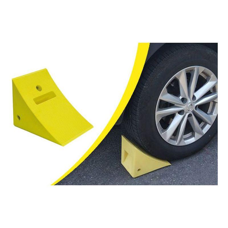 Cale de roues ultra résistante en EPDM | Butées de parking | Butées de Stationnement
