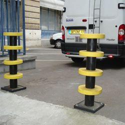 Poteau de protection à disques en élastomère | Protection des entrepôts