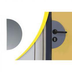Plaque de propreté pour poignée de porte | Equipement de protection des bâtiments