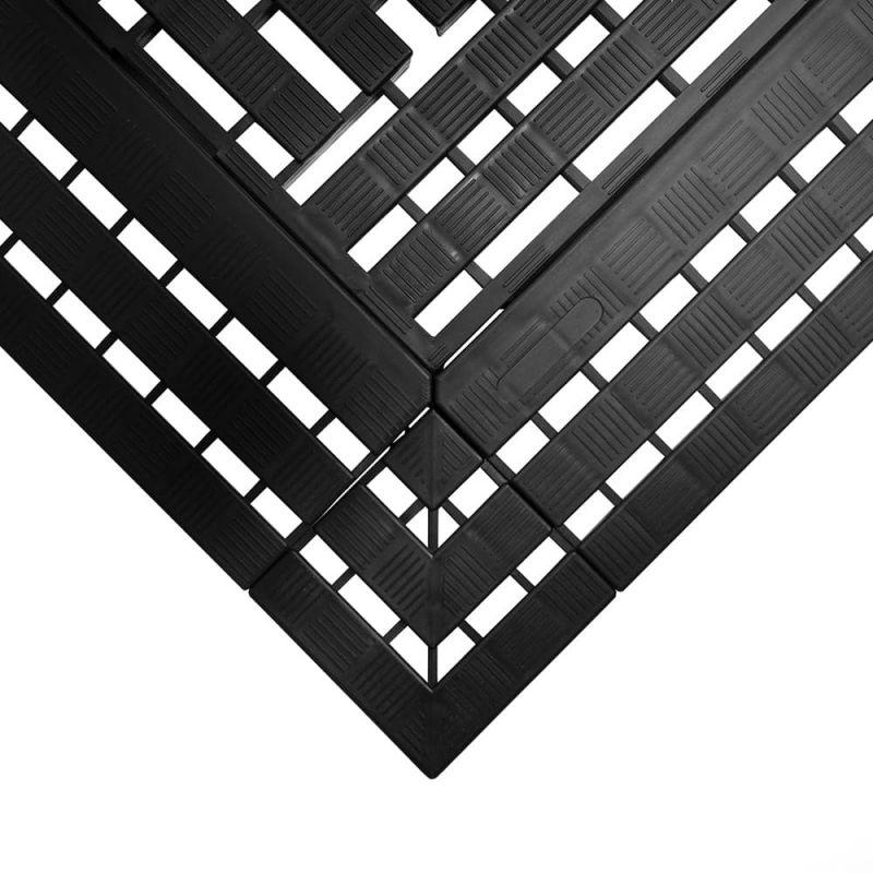 Dalle caillebotis modulables en polyéthylène - Caillebotis industriels WORK DECK noir