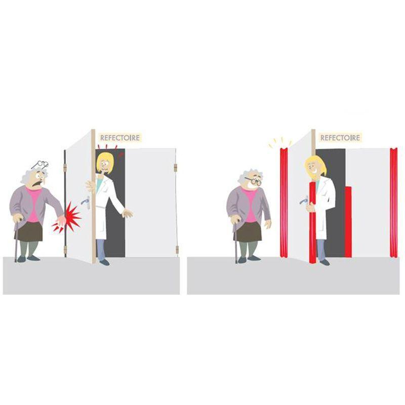Protection anti-pince doigts pour porte   Equipement de protection des bâtiments