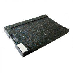 Patin de calage avec usinage en U pour grues et nacelles, Plaques de calage en plastique noir incassable et imputrescible