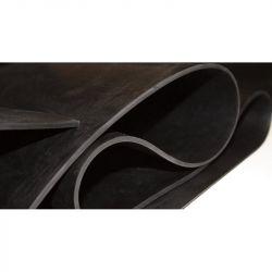 Bâche en caoutchouc noir lisse