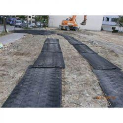 Plaque de roulage lisse 60T: Plaques de roulage plastique incassable et plaques de protection des sols