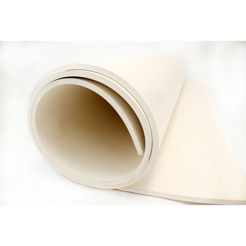 Bâche lisse en caoutchouc blanc alimentaire multi-usage pour protéger sol et surface en industrie agroalimentaire