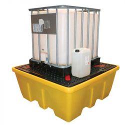 Bac de rétention plastique emboitable en PE pour 1 IBC | Bac de rétention plastique