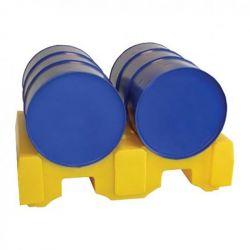 Support en PE pour 2 fûts à l'horizontal | Soutirage & accessoires