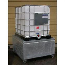 Bac de rétention en acier pour 1 IBC | Bac de rétention acier