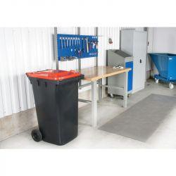 Conteneur à déchets 120L  | Conteneur Poubelle sur roues