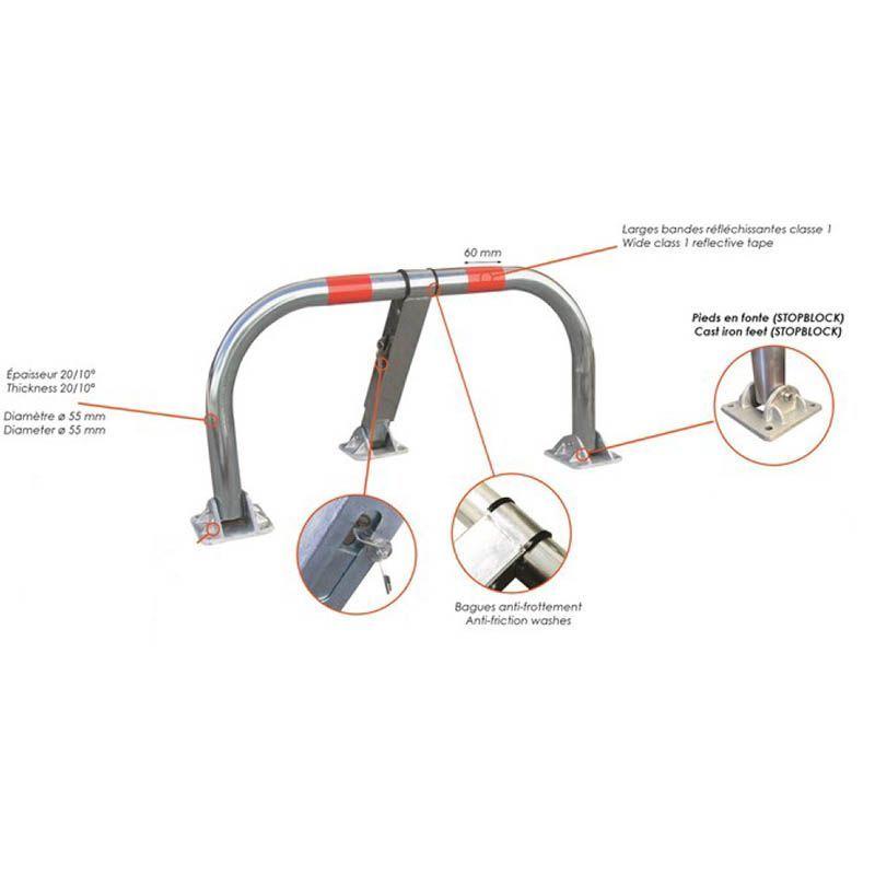 Arceau de parking haute résistance | Equipement de parking et de voirie