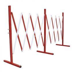 Barrière extensible en acier - Long 400 cm | Barrière de sécurité | Barrière et poteau de Sécurité