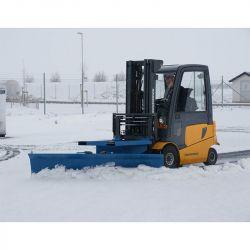 Lame chasse neige en acier pour chariot élévateur - matériel de déneigement