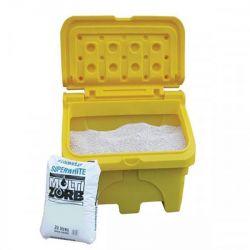 Bac à sel 130 litres en PE - Coffre à sel en PE - Matériel de déneigement