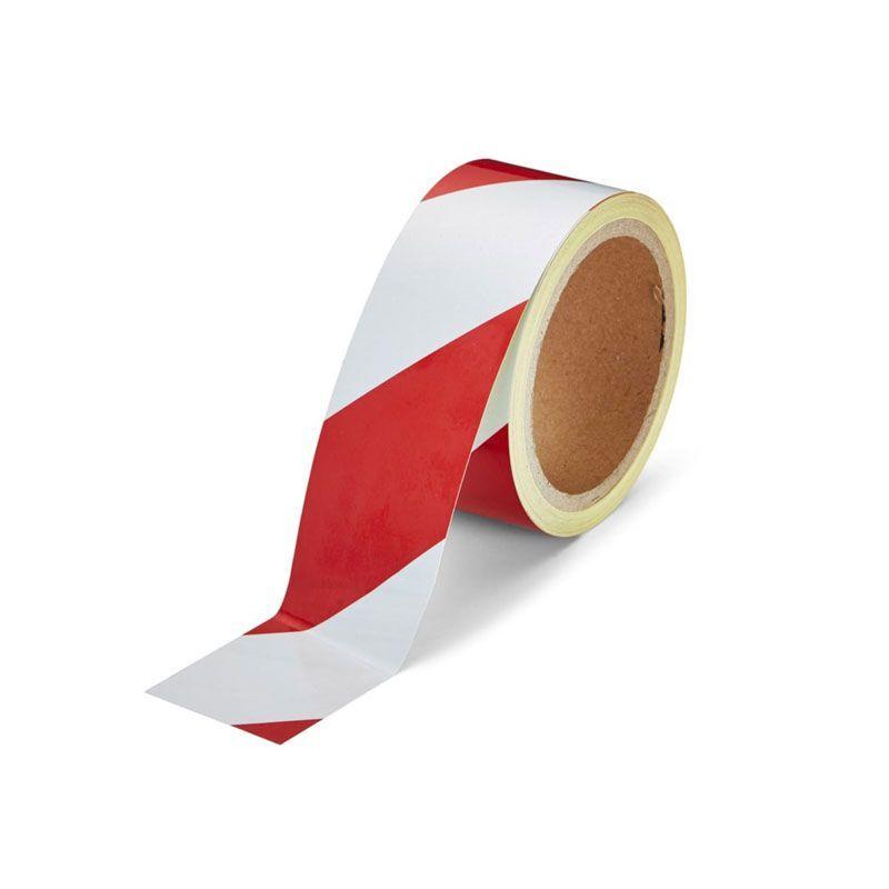 Ruban de marquage adhésif réfléchissant - rouge et blanc