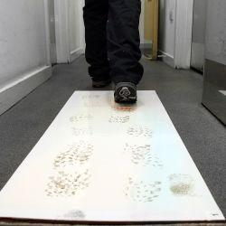 Tapis anti-contamination à feuilles jetables en milieu hospitalier, laboratoire et salles blanches