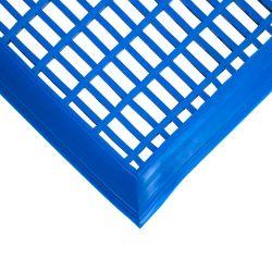 Caillebotis en PVC antibactérien -  Dalles et tapis loisirs LEISURE MAT bleu