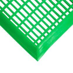 Caillebotis en PVC antibactérien -  Dalles et tapis loisirs LEISURE MAT vert