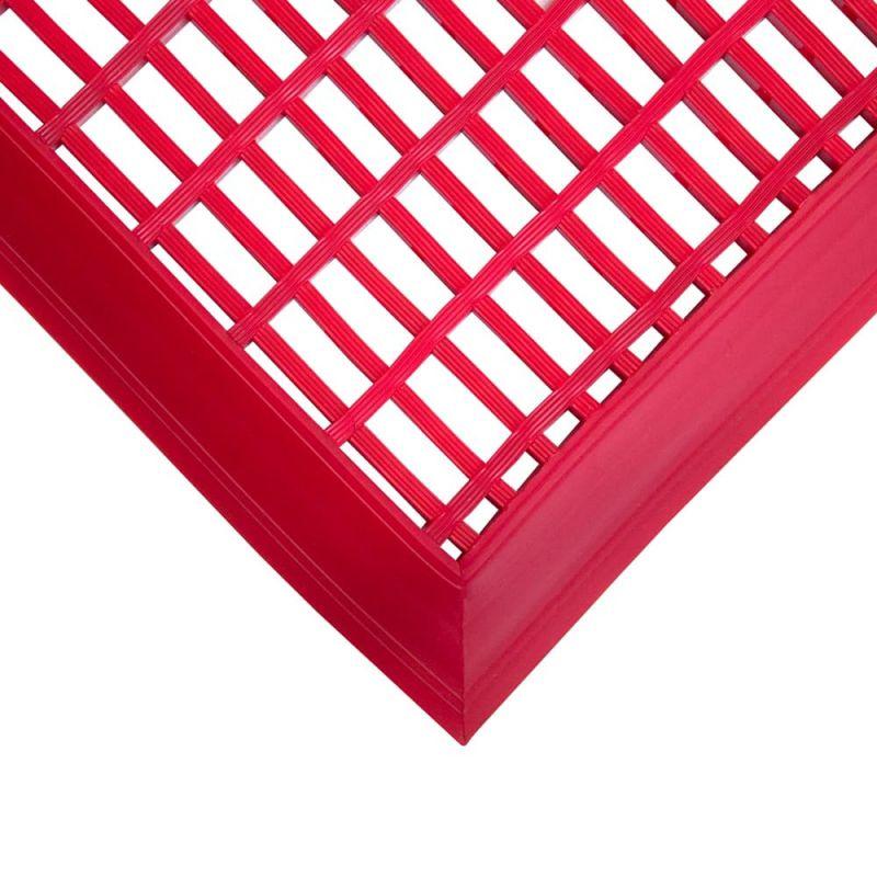 Caillebotis en PVC antibactérien -  Dalles et tapis loisirs LEISURE MAT rouge