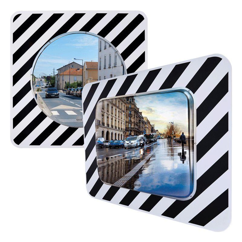 Miroir d'agglomération en inox   Miroir routier