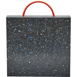 Plaque de calage carré pour grues et nacelles, Plaques de calage en plastique noir incassable et imputrescible