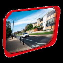 Miroir de signalisation multi-usages - cadre coloré Polymir