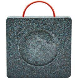 Patins de calage avec usinage central pour grues et nacelles, Plaques de calage en plastique noir incassable et imputrescible