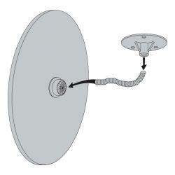 Miroir de surveillance magasin - Fixation flexible