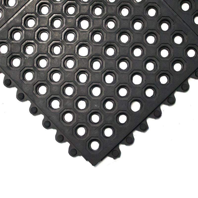 Dalle de caillebotis modulables en caoutchouc - Caillebotis industriels FATIGUE-STEP INDUSTRIE