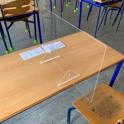 Paroi de séparation en Plexiglas pour tables