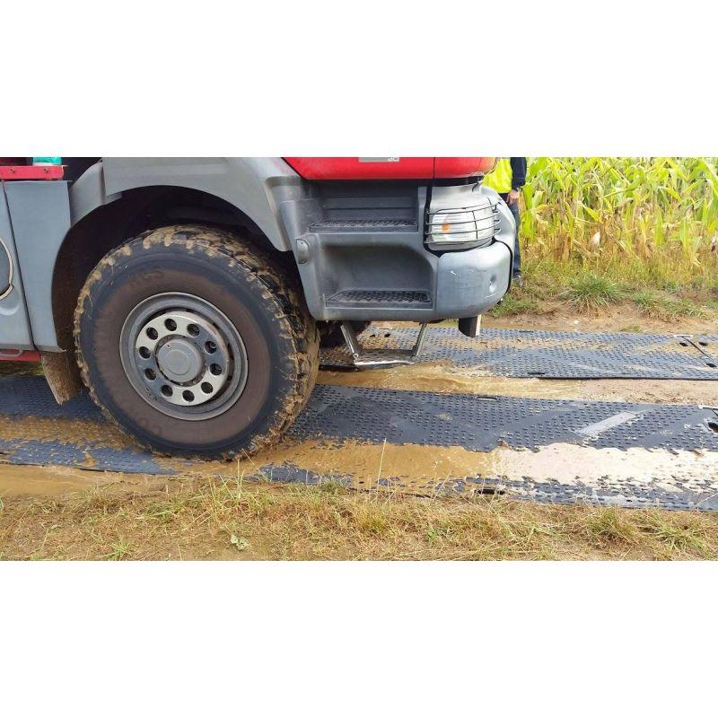 Plaque de roulage PEHD 50 T - Plaque de roulement - Plaque de réparation des charges