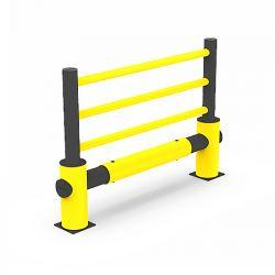 Barrière de protection flexible avec tube anti-collisions