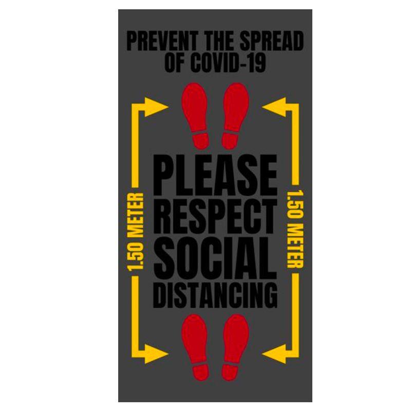 Tapis d'entrée anti poussière pour distanciation sociale